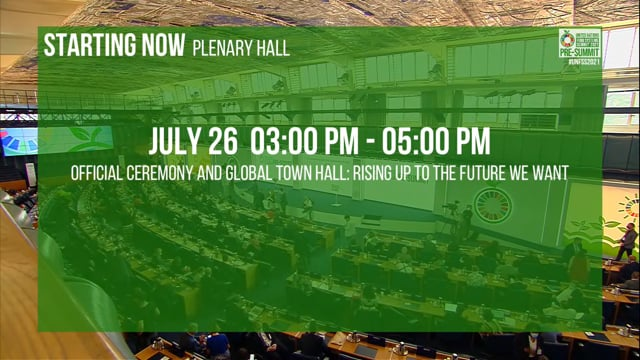 Official Ceremony and Global Town Hall: Rising Up to the Future We Want