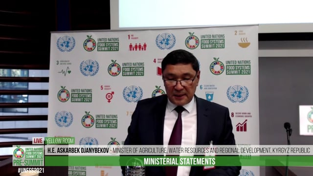 H.E. Askarbek Djanybekov, Minister of Agriculture, Water Resources and Regional Development of Kyrgyz Republic