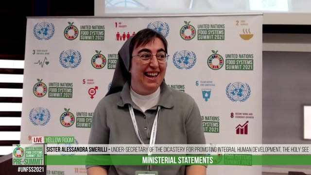 Sister Alessandra Smerilli, Under-Secretary of the Dicastery for Promoting Integral Human Development, The Holy See