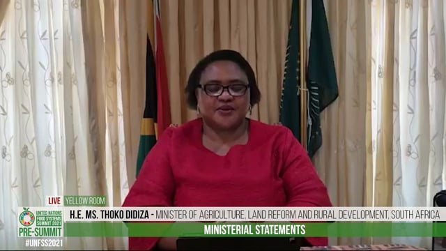 H.E. Ms. Thoko Didiza, Minister of Agriculture, Land Reform and Rural Development, South Africa