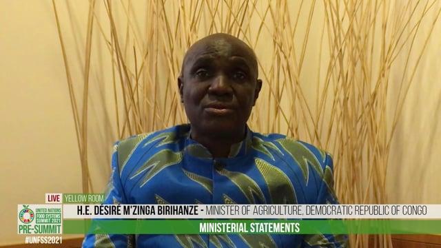 HE Désiré M'Zinga Birihanze, Minister of Agriculture, Democratic Republic of Congo