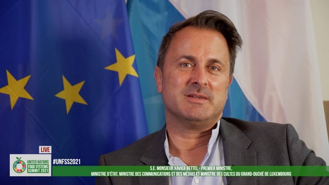 S.E. Xavier Bettel, Prime Minister, The Grand Duchy of Luxembourg
