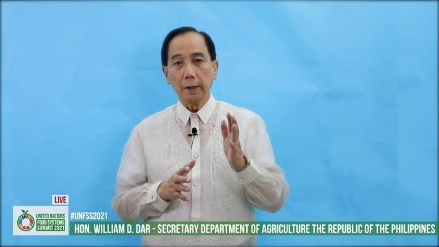 H.E. Hon. William D. Dar, Secretary Department of Agriculture, Philippines
