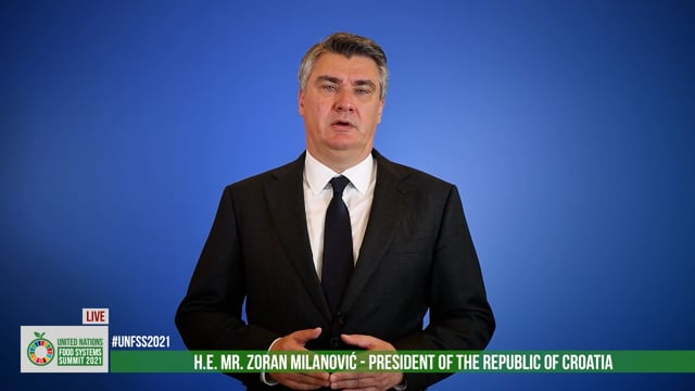 H.E. Zoran Milanović, President of the Republic of Croatia