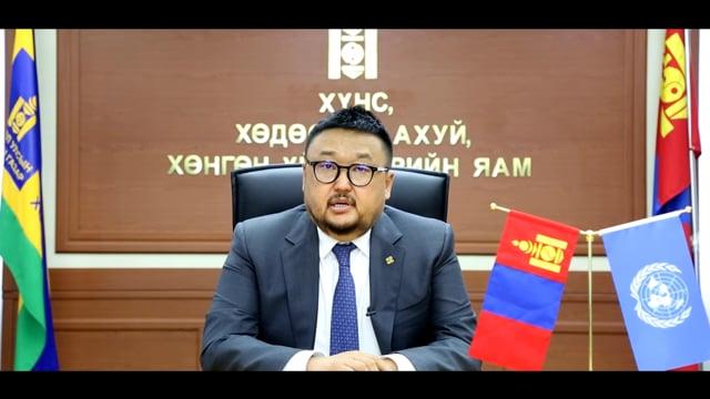 H.E. Mendsaikhan Zagdjav, Minister of Food, Agriculture and Light Industry, Mongolia