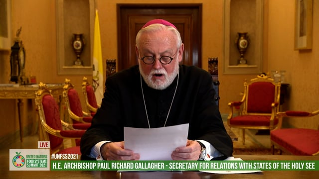 H.E. Archbishop Paul Richard Gallagher, Secretary for Relations with States of the Holy See (Minister of Foreign Affairs)