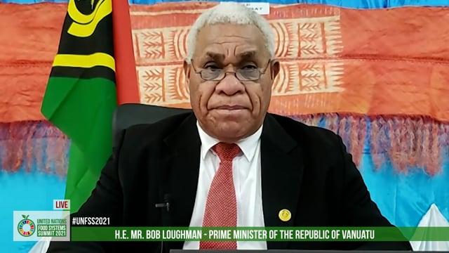 Hon. Bob Loughman Weibur, Prime Minister, Vanuatu