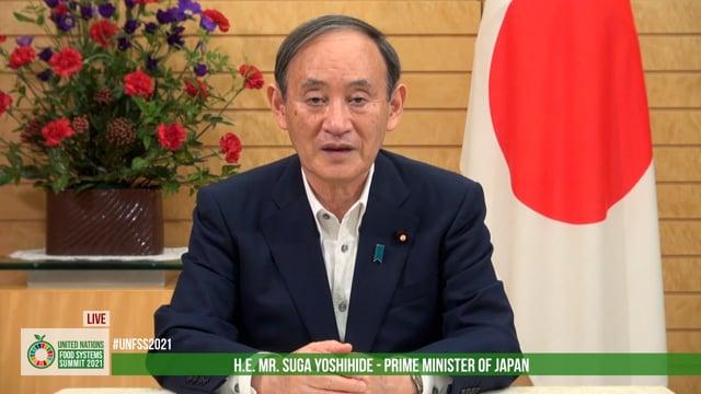 H.E. Yoshihide Suga, Prime Minister of Japan