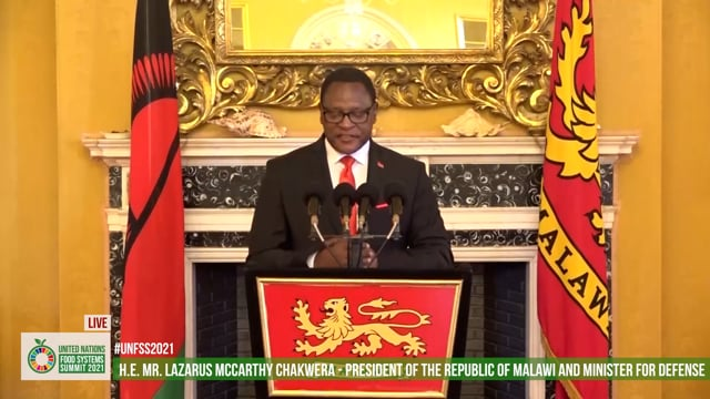 H.E. Dr. Lazarus McCarthy Chakwera, President of the Republic of Malawi