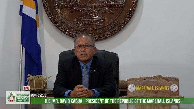 H.E. David Kabua, President of the Republic of the Marshall Islands
