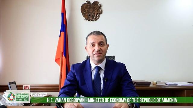 H.E. Vahan Kerobyan, Minister of Economy, Armenia