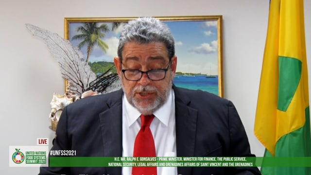 H.E. Dr. Ralph Gonsalves, Prime Minister and Foreign Minister, Saint Vincent and the Grenadines