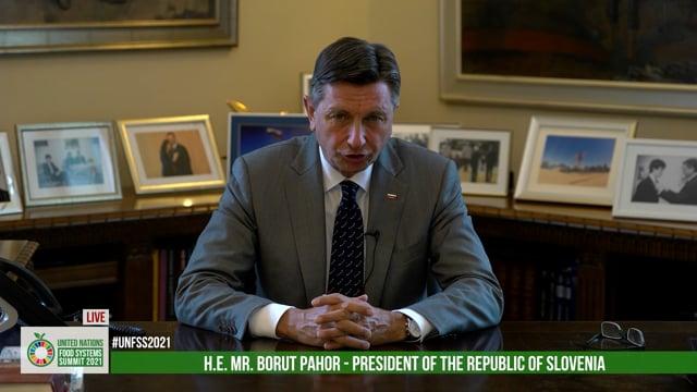 H.E. Mr. Borut Pahor, President of the Republic of Slovenia