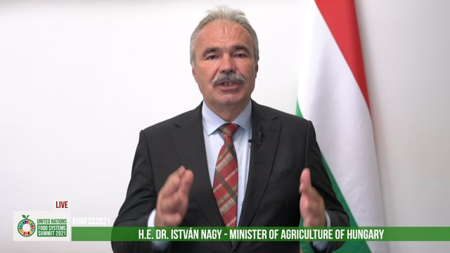 H.E. Dr. István Nagy, Ministry of Agriculture, Hungary