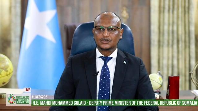 H.E. Mahdi Mohammed Gulaid, Deputy Prime Minister, Somalia