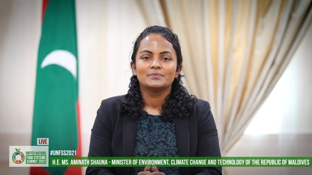 H.E. Aminath Shauna, Minister of Environment, Climate Change and Technology, The Republic of Maldives