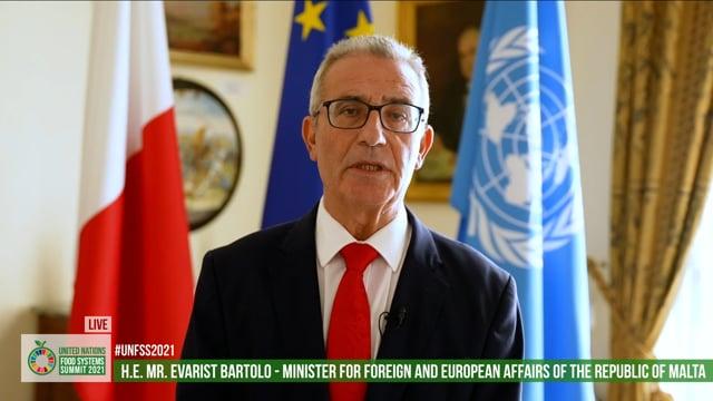Hon. Evarist Bartolo, Minister for Foreign and European Affairs, Republic of Malta