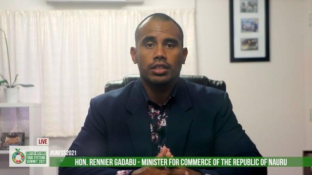 Hon. Rennier Gadabu, Minister for Commerce, Industry & Environment, Republic of Nauru