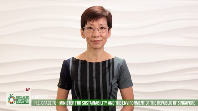 H.E. Grace Fu, Minister for Sustainability and the Environment, Singapore