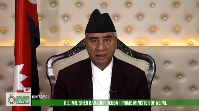 H.E. Sher Bahadur Deuba, Prime Minister, Nepal