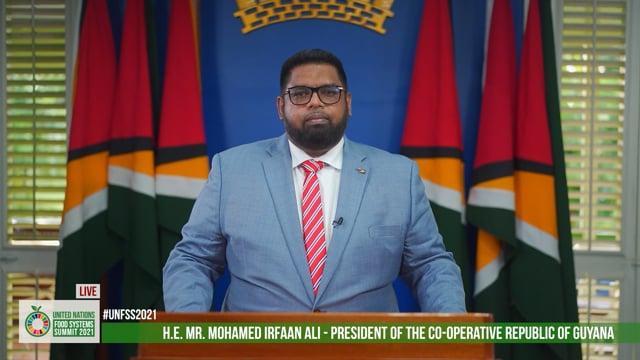 H.E. Dr. Mohamed Irfaan Ali, President of the Co-operative Republic of Guyana