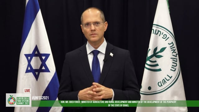 H.E. Mr. Oded Forer, Minister Of Agriculture and Rural Development, Israel