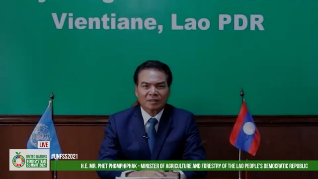 H.E. Dr. Phet Phomphiphak, Minister of Agriculture and Forestry, Lao PDR
