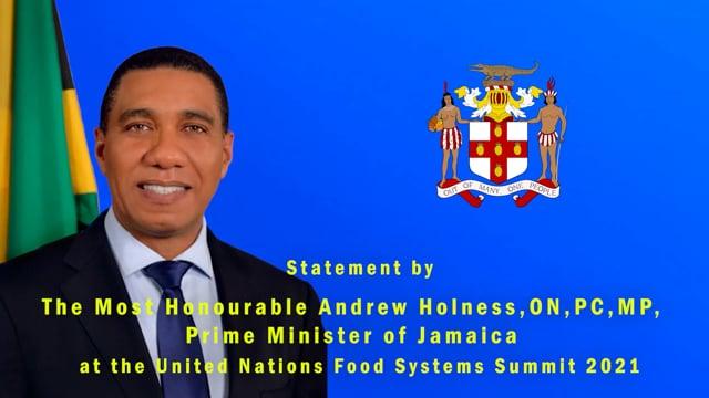 H.E. Andrew Holness, Prime Minister of Jamaica
