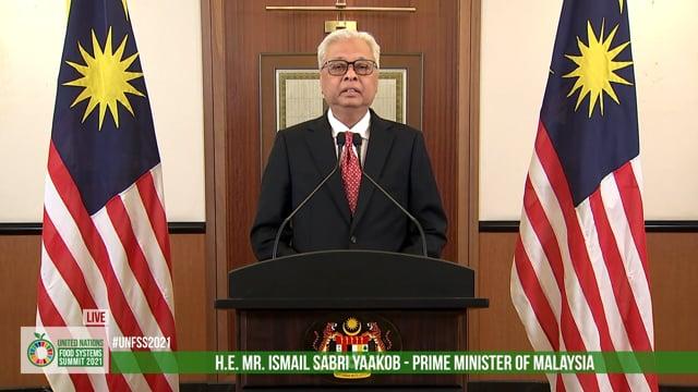 H.E. Dato' Sri Ismail Sabri bin Yaakob, Prime Minister Of Malaysia