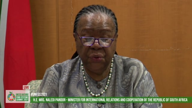 H.E. Mrs. Naledi Pandor, Minister for International Relations and Cooperation of the Republic of South Africa