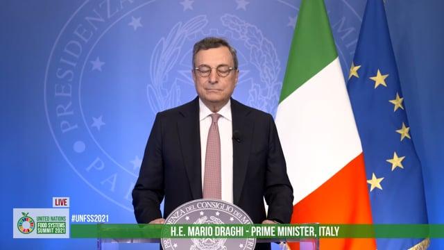 H.E. Mario Draghi, Prime Minister, Italy