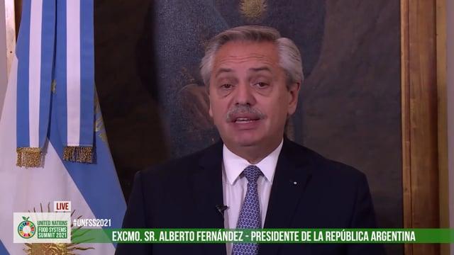 Excmo. Sr. Alberto Fernández, President, Republic of Argentina