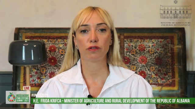 H.E. Frida Krifca, Minister of Agriculture and Rural Development, The Republic of Albania