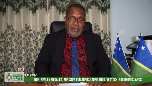 Hon. Senley Filualea, Minister for Agriculture and Livestock, Solomon Islands
