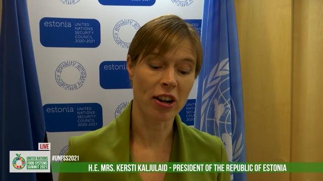H.E. Mrs. Kersti Kaljulaid, President of the Republic of Estonia