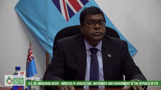 H.E. Dr. Mahendra Reddym Minister of Agriculture, Waterways and Enviroinment of the Republic of Fiji