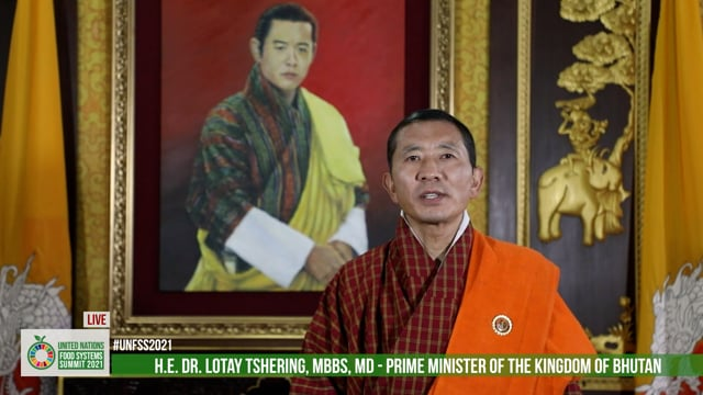 H.E. Dr. Lotay Tshering, Prime Minister, Kingdom of Bhutan