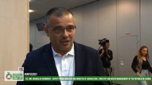 H.E. Branislav Nedimović, Deputy Prime Minister and Minister of Agriculture, Forestry and Water Management, Serbia