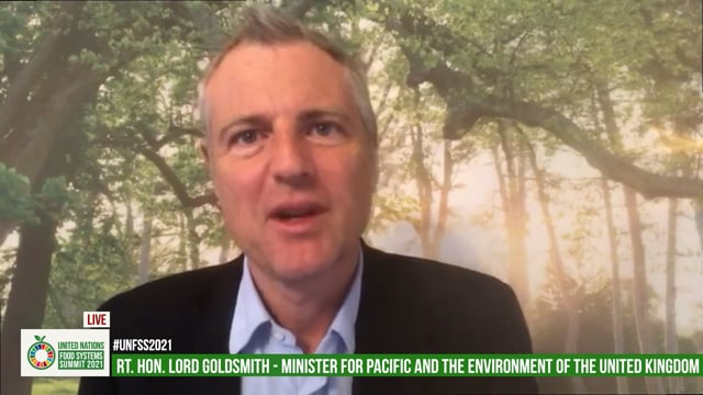 Rt. Hon. Lord Goldsmith, Minister for Pacific and the Environment, The United Kingdom