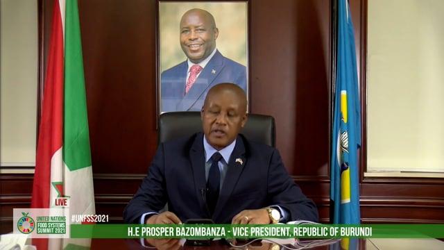 H.E Prosper Bazombanza, Vice President, Republic of Burundi