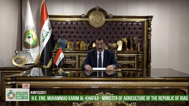 H.E. Muhammad Karim Al-Khafaji, Minister Of Agriculture, Iraq