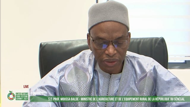 H.E. Prof. Moussa Balde, Minister of Agriculture and Rural Equipment, Senegal