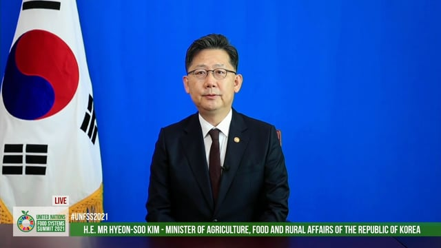 H.E. Hyeon-soo Kim, Minister of Agriculture, Food and Rural Affairs, Republic of Korea