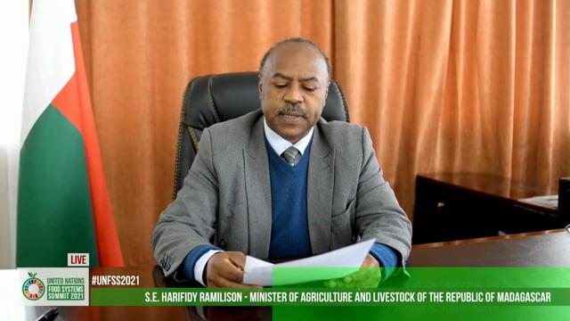 H.E. Ramilison Harifidy, Minister of Agriculture and Livestock, Madagascar