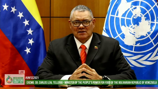 H.E. Carlos Leal Telleria, Minister of the People's Power for Food of the Bolivarian Republic of Venezuela