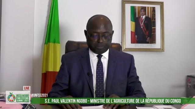 S.E. Paul Valentin Ngobo, Ministre de l'Agriculture de la République du Congo
