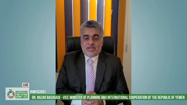 H.E. Dr. Nazar Basuhaib, Vice Minister of Planning and International Cooperation, Yemen