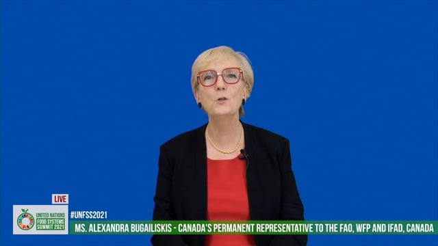 H.E. Alexandra Bugailiskis, Permanent Representative FAO, WFP and IFAD, Canada