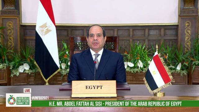 H.E. Abdel Fattah Al Sisi, President of the Arab Republic of Egypt