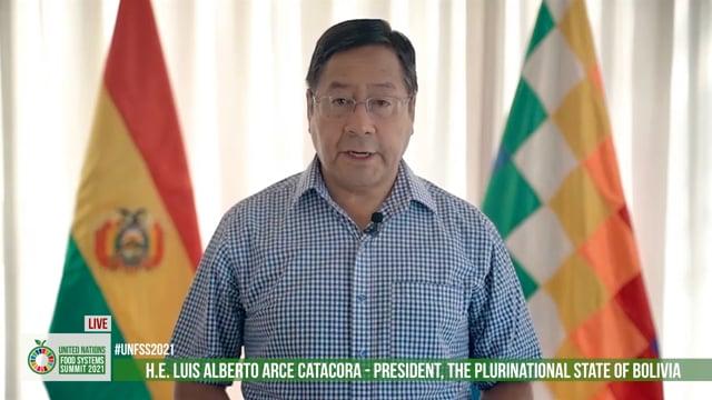 Excmo. Sr. Luis Alberto Arce Catacora, President, the Plurinational State Moeketsi Majoroof Bolivia